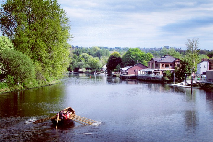 Community Currach Rowing on the River Lagan
